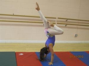 Hanna doing her handstand passé!