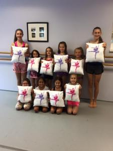 Our pillow project!  The kids made them!