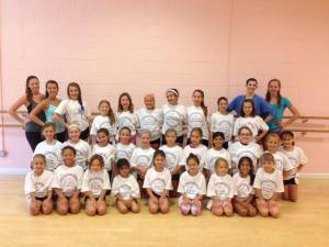 Our T-Shirts for Do You Think You Can Dance Camp!  Everyone signed the back of each other's shirts!